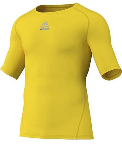 Короткий рукав мужское Термобелье Adidas TECHFIT CUT O02367 , ОРИГИНАЛ(02-08-14-02) L, фото 2