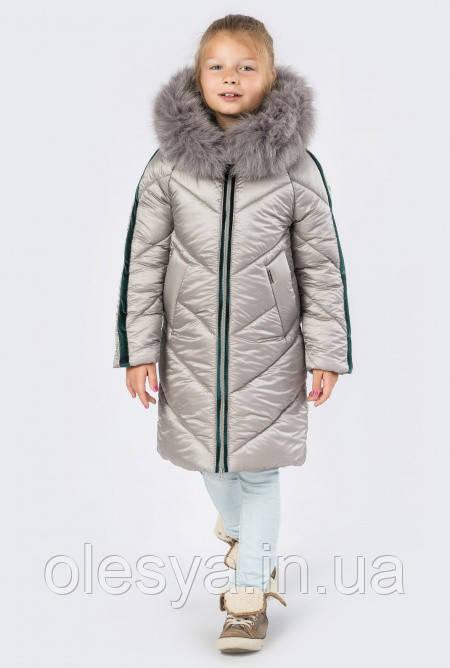 Детское зимнее Пальто на девочку X-Woyz 8267 Размер 146-152