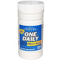 Витамины и мультиминералы для мужского здоровья, 100 таблеток, 21st Century, One Daily