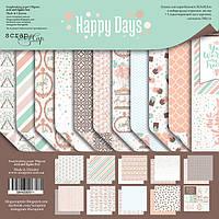 Набор двусторонней бумаги 30х30см от Scrapmir Happy Days