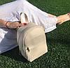 Рюкзак в стиле Michael Kors белый бежевый молоко