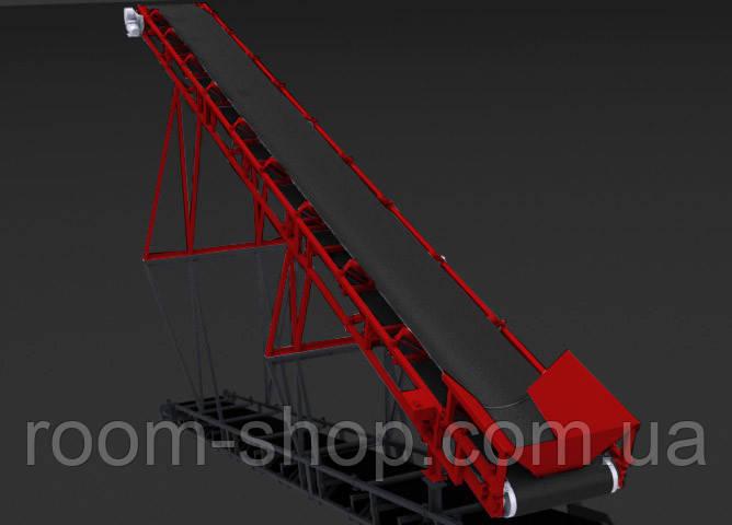 Ленточный конвейер (навантажувач) ширина 900 мм длинна 8 м.