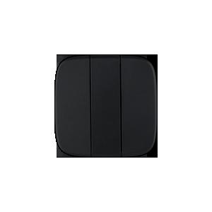 Клавиша трехклавишного выключателя Valena Allure Legrand, цвет черный