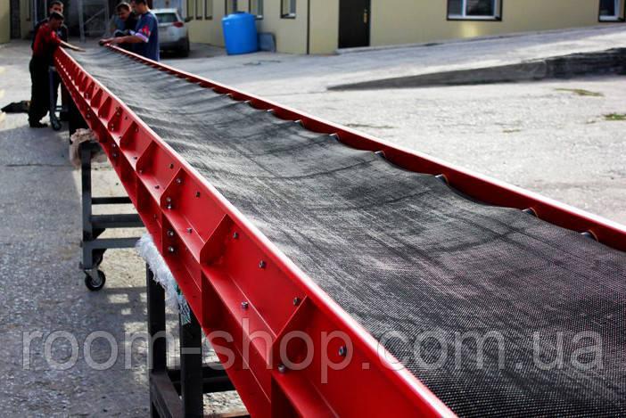 Ленточный конвейер (навантажувач) ширина 900 мм длинна 9 м.