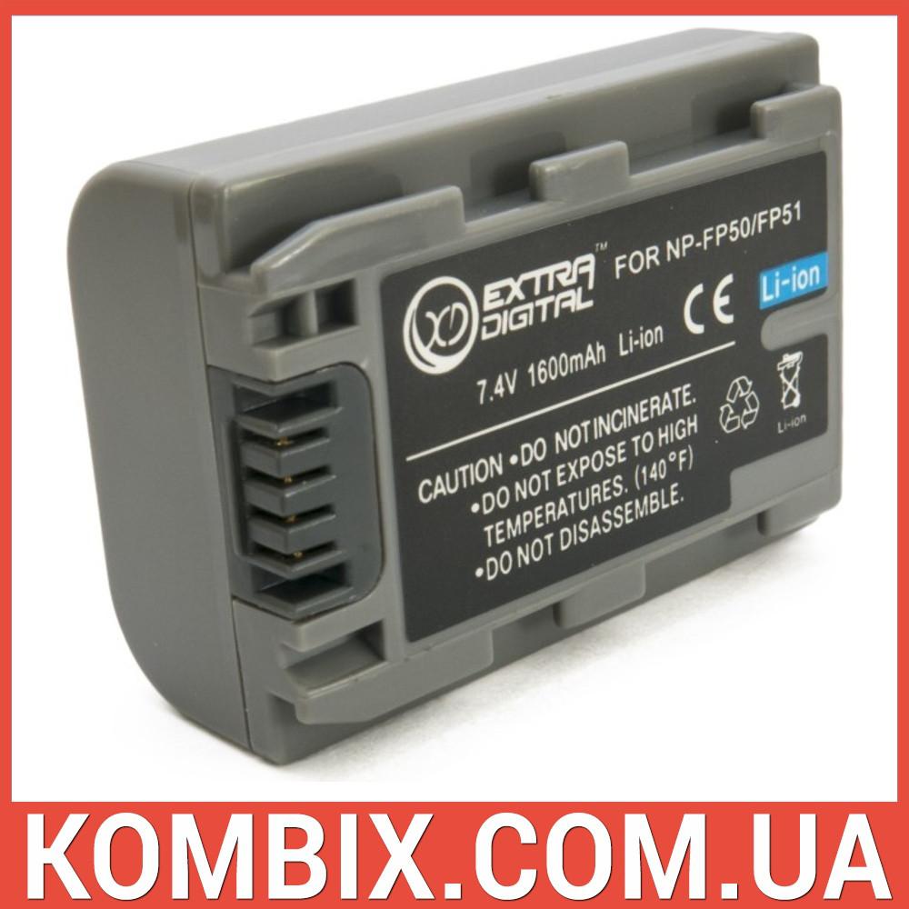 Аккумулятор Sony NP-FP50 | ExtraDigital, фото 1