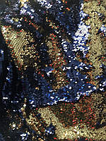 Пайетка двухсторонняя (Чешуя) Золото с синим