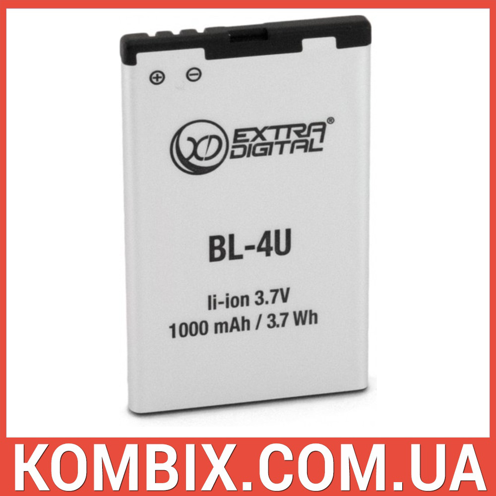 Аккумулятор Nokia BL-4U | Extradigital, фото 1