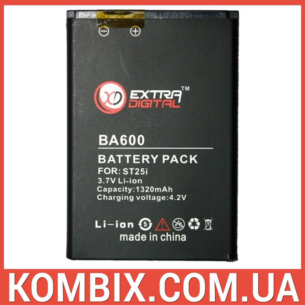 Аккумулятор для Sony Ericsson BA600   Extradigital, фото 1