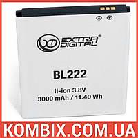 Аккумулятор Lenovo BL222   Extradigital, фото 1