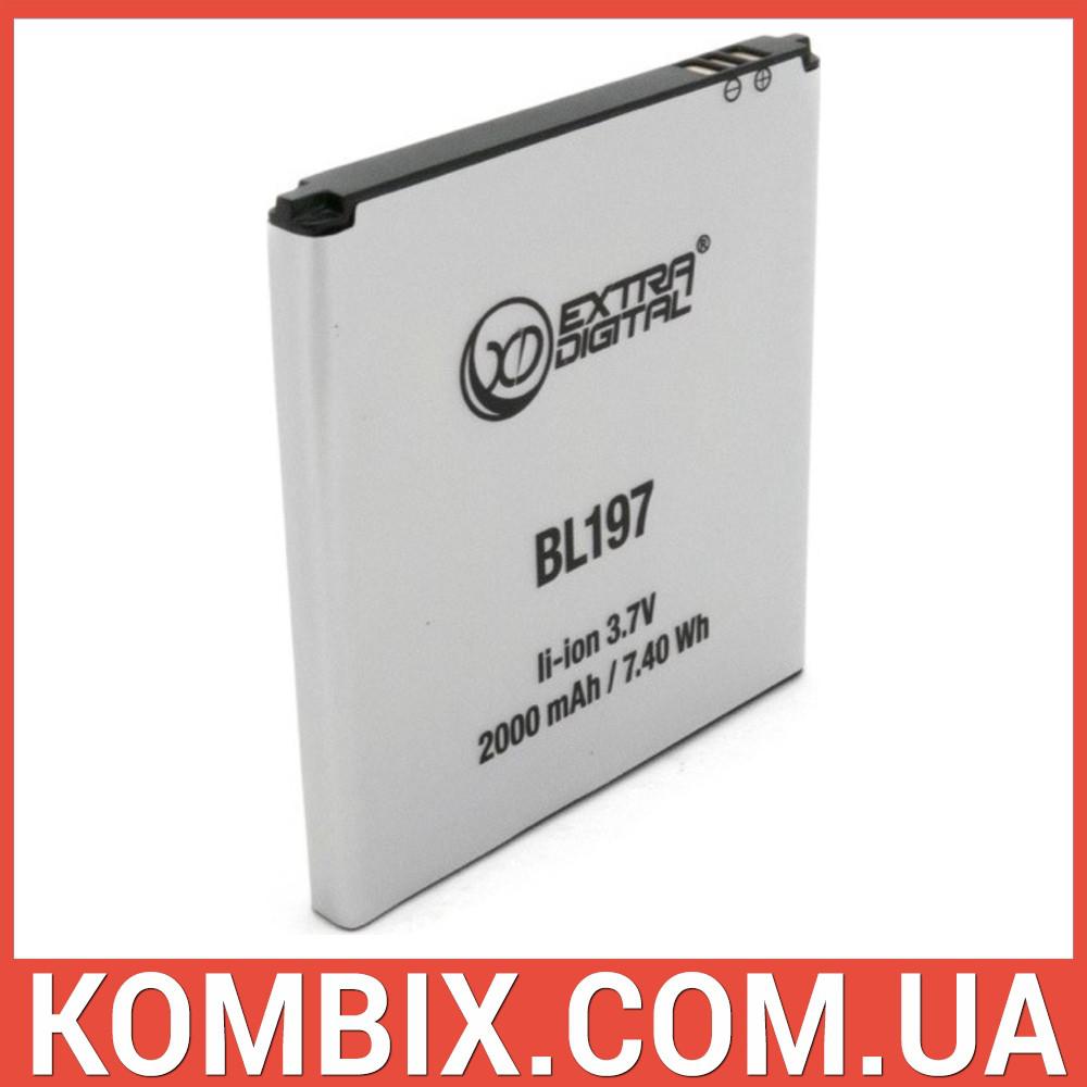 Аккумулятор Lenovo BL197   Extradigital, фото 1