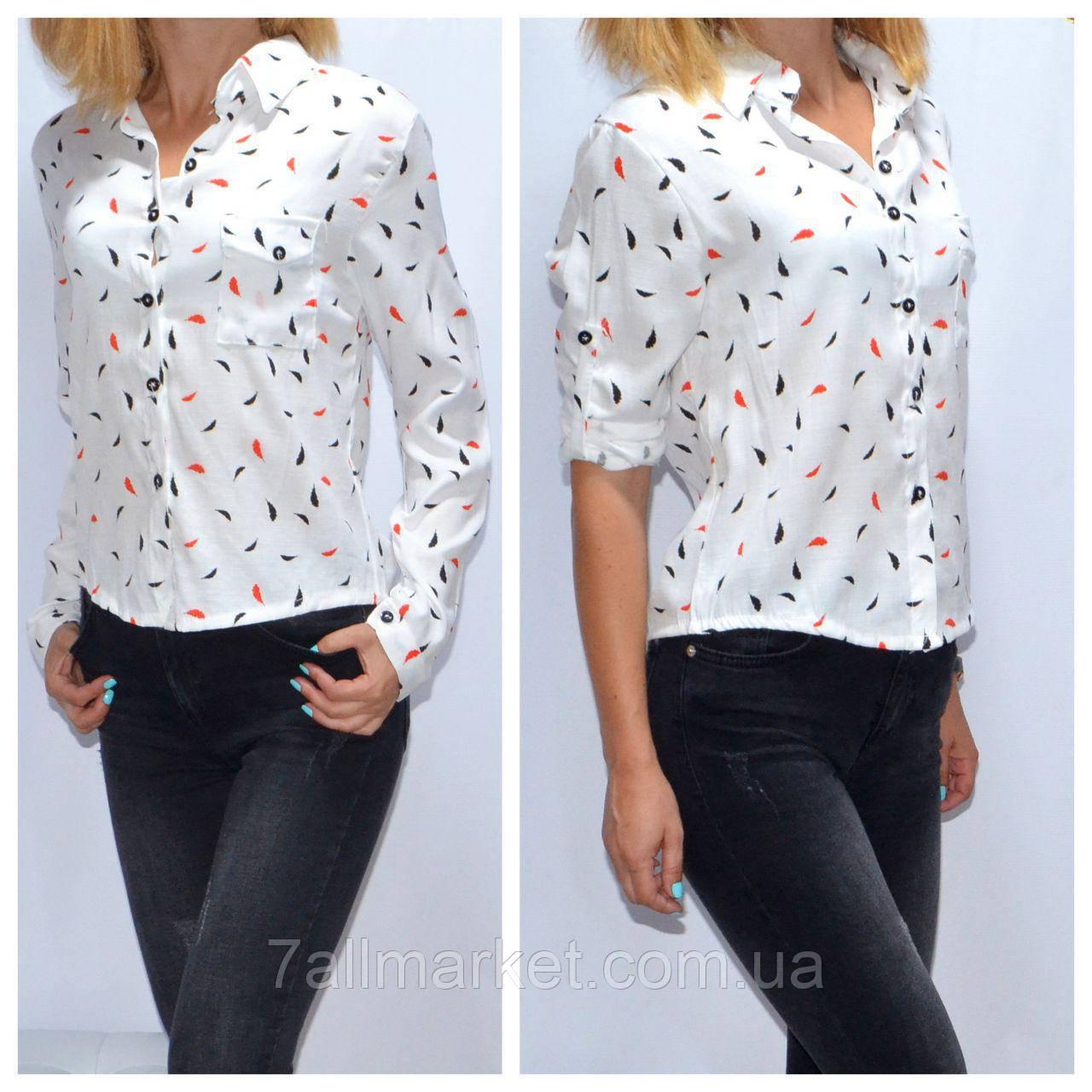 2bdcb2728f279 Рубашка женская модная с принтом размеры S-L