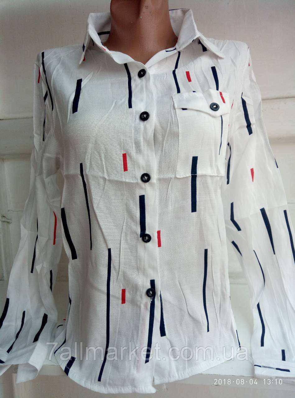 fb09e98173f Рубашка женская модная с принтом размеры S-L (2 цвета) Серии