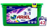 Ariel 3-в-1 Color&Style капсулы для стирки, 42 шт.