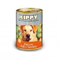 KIPPY консервированный корм для собак с курицей и индейкой (паштет), 400г