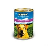 KIPPY консервированный корм для собак с курицей, лососем и морковью (паштет), 400г