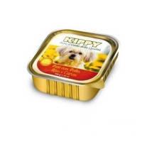 KIPPY консервированный корм для собак с курицей, рисом и морковью (паштет), 150г