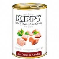 KIPPY консервированный корм для собак с кусочками мяса ягнёнка (паштет), 400г