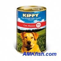 KIPPY консервированный корм для собак с говядиной (паштет), 1250г
