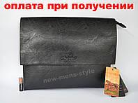 Мужская кожаная брендовая сумка через плечо для документов А4 портфель POLO