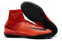 Футбольные сороконожки Nike MercurialX Proximo TF Bright Crimson/White/University Red/Hyper Crimson, фото 1