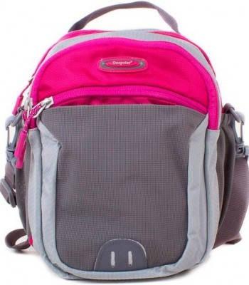 Прочная сумка на плечо ONEPOLAR (ВАНПОЛАР) W5231-rose розовый с серым