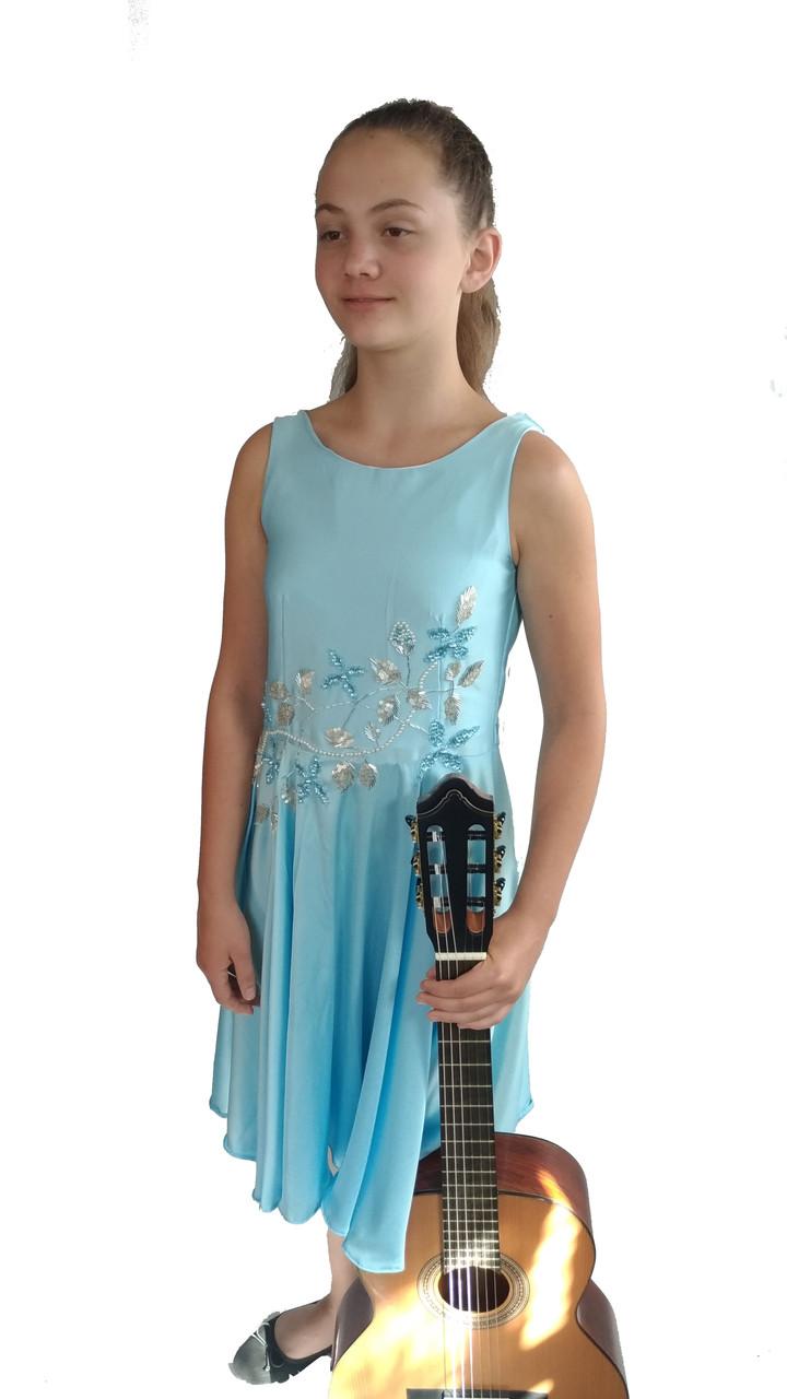 Концертное платье  Голубая Соната