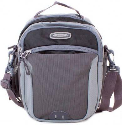 Удобная мужская сумка на плечо ONEPOLAR (ВАНПОЛАР) W5231-grey серая