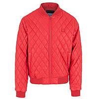 Чоловіча  молодіжна куртка-бомбер.Імітація шкіри.Червона. Urban Classics