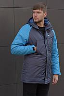 Зимняя мужская парка Nike (синяя), фото 1