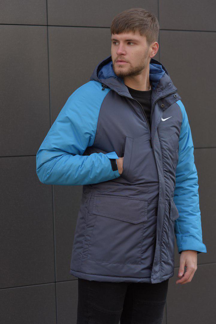 Зимняя мужская парка Nike (синяя)