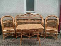 """Набор плетеной мебели со стульями """"Книзу"""""""