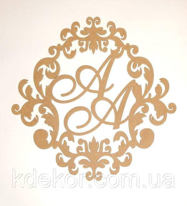 Свадебная монограмма №2 буквы АА заготовка для декора
