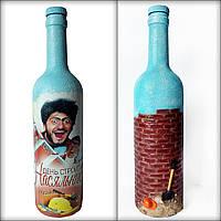 Сувенірна пляшка «Насяльника» Подарунок будівельнику на день народження, фото 1