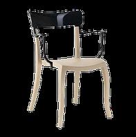 Кресло Papatya Hera-K песочно-бежевое сиденье, верх черный, фото 1