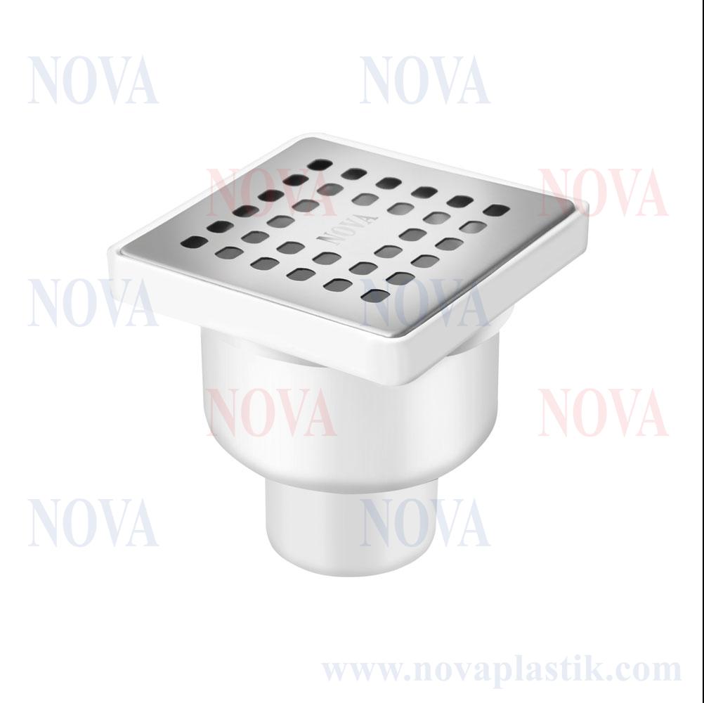 Трап сантехнический Nova 100x100 мм нижний