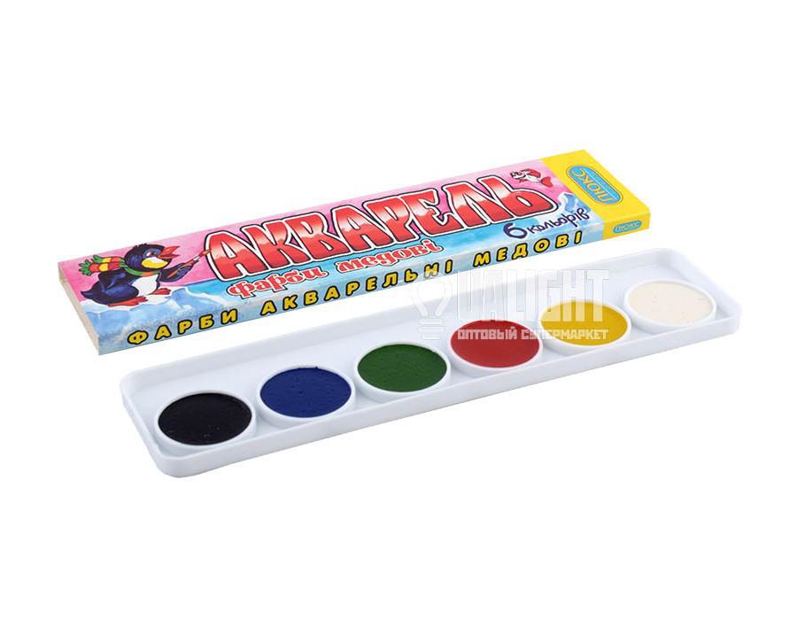 Краски акварельные медовые Люкс 6 цветов