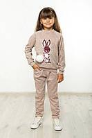 Костюм спортивний дитячий Зайчик пудра, фото 1