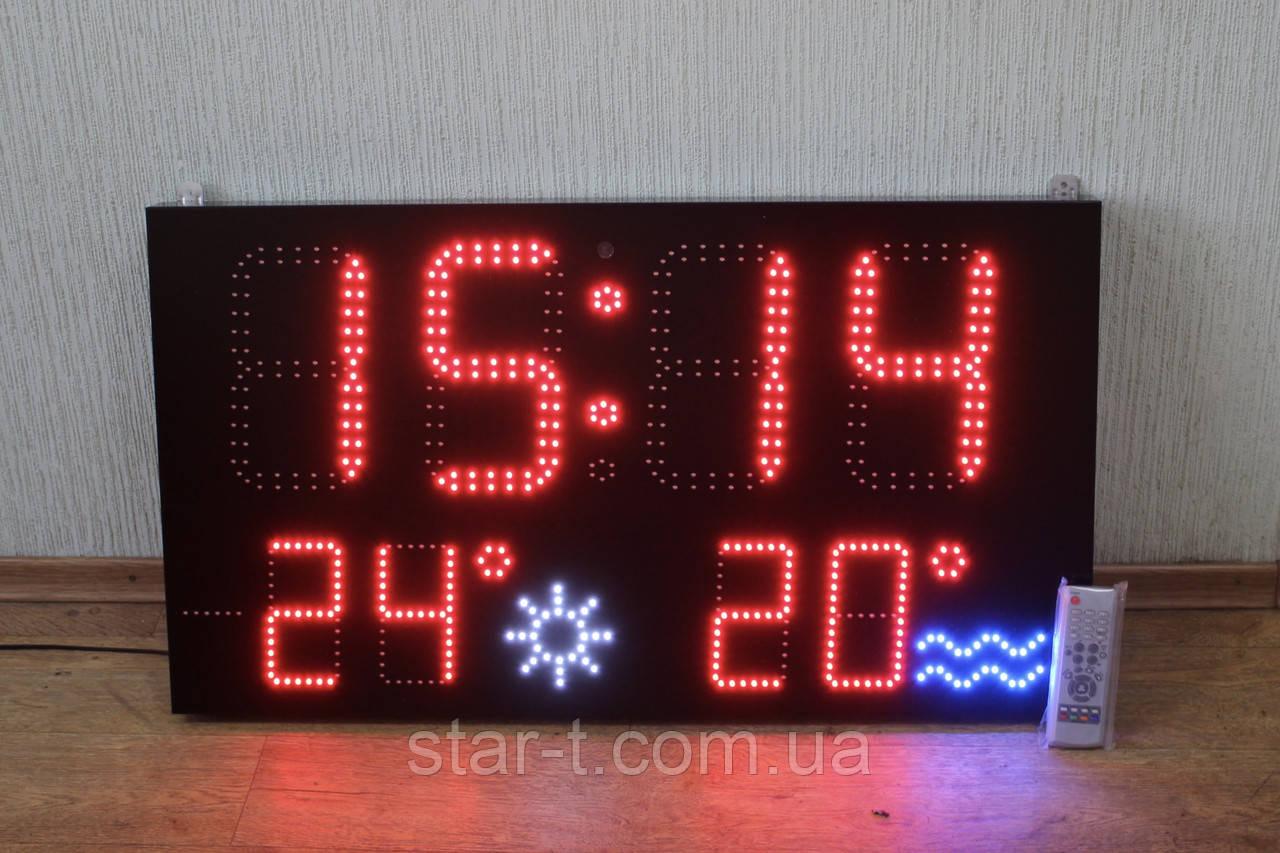 Часы-календарь термометр 900х500мм