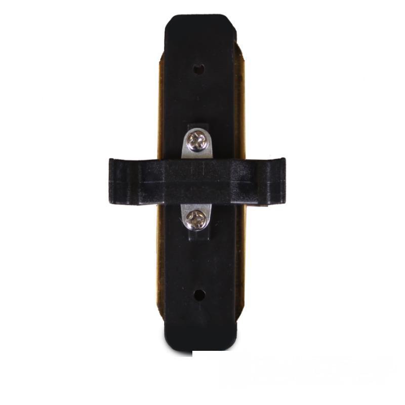Коннектор для трекового LED светильника ElectroHouse  прямой черный