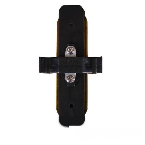 Коннектор для трекового LED светильника ElectroHouse  прямой черный, фото 2