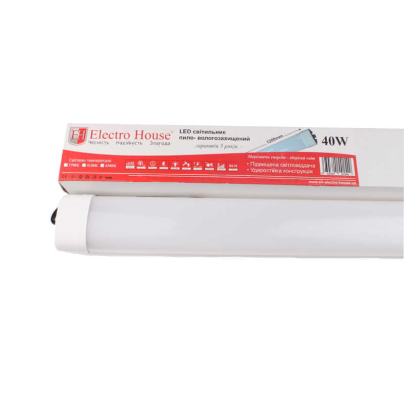 ElectroHouse LED светильник ПВЗ 40W 1200мм 6500K 3200Lm IP65