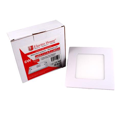 Панель LED ElectroHouse квадратная 6W 120х120мм, фото 2