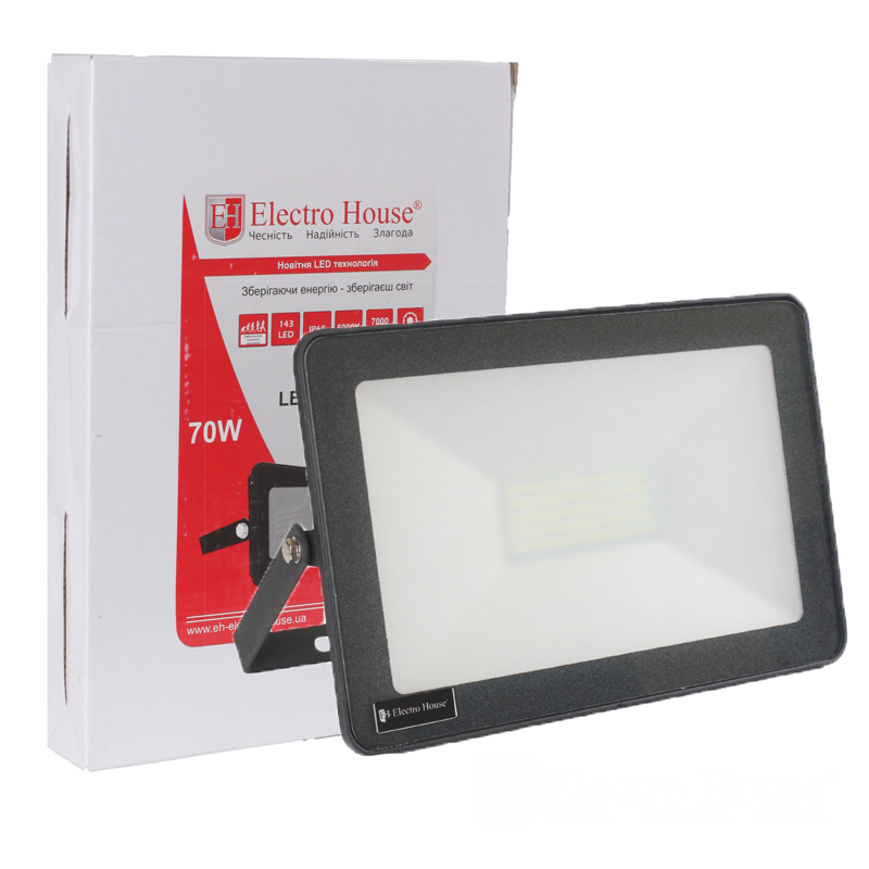 Прожектор LED ElectroHouse 70W IP65