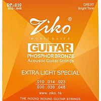 Струна поштучно для акустической Ziko DP-010-1 .010