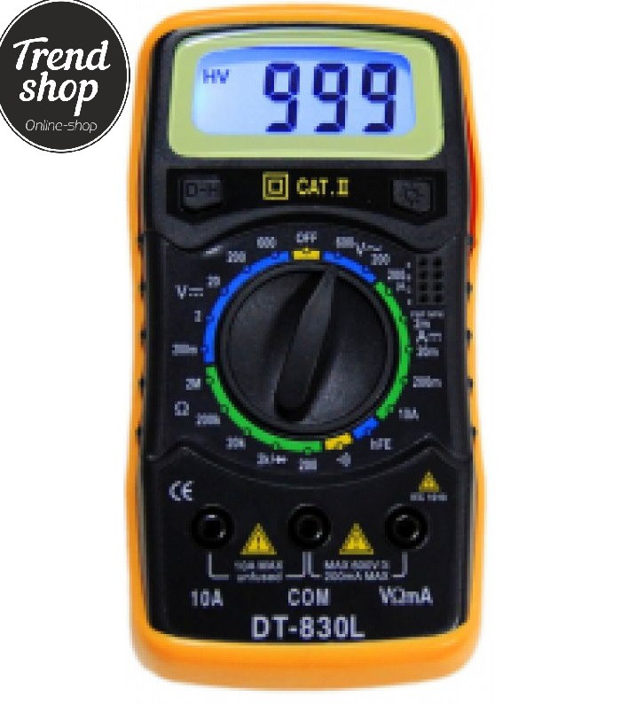 Мультиметр цифровой DT 830 L вольтметр