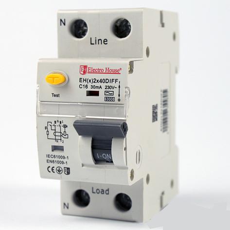 ElectroHouse ДИФ Автомат 40А 1P+N 30mA 4,5kA 230-240V IP20, фото 2