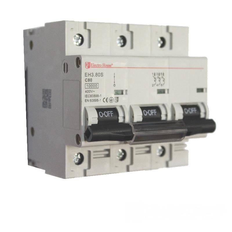 ElectroHouse Автоматический выключатель силовой 80A 4,5kA 230-400V IP20