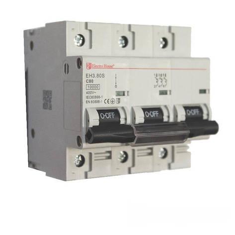 ElectroHouse Автоматический выключатель силовой 80A 4,5kA 230-400V IP20, фото 2