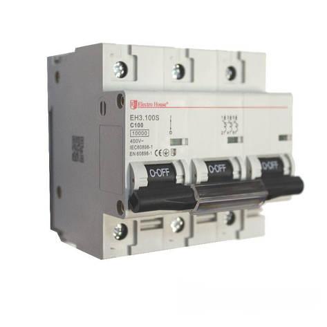ElectroHouse Автоматический выключатель силовой 100A 4,5kA 230-400V IP20, фото 2