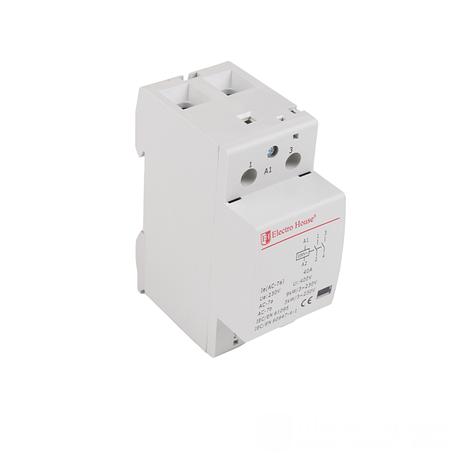 ElectroHouse Контактор модульный 2P 40A 220-230V IP20 2НО, фото 2